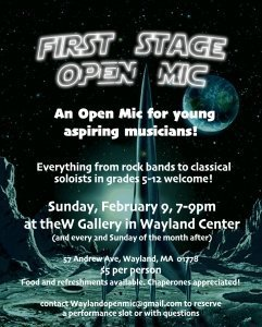 First Stage Student Open Mic Night at the W
